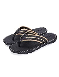 d0ec9360d48603 FLY HAWK Mens Boys Flip Flops Thongs Comfy Summer Sandals for Beach Pool  Outdoor Slippers