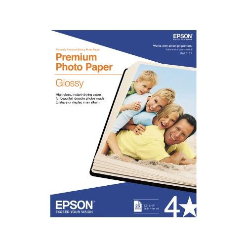 Epson S042183 Small Format - Letter Size Premium Glossy Photo Paper (8.5quot; x 11quot;) (25 Sheets/Pkg)