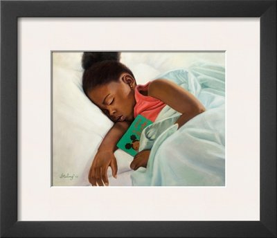 Little Sister Framed Art Poster Print by Sterling Brown, 16x14