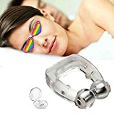 Clipple Silicone Magnetic Anti Snore Stop Snoring Nose Clip Sleep Sleeping Aid (A-Magnetic)
