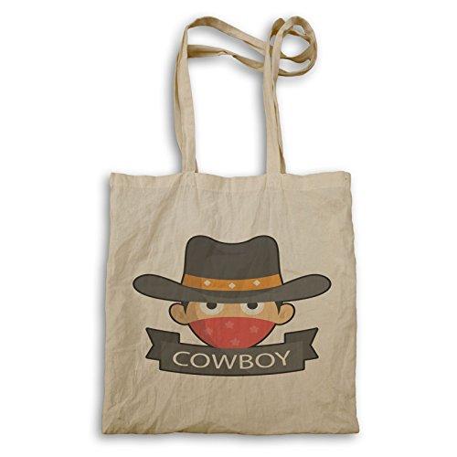 Cowboy Lustige Kunst Tragetasche r764r
