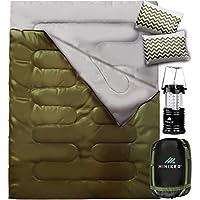 HiHiker Double Sleeping Bag Queen Size XL - Bonus Camping...