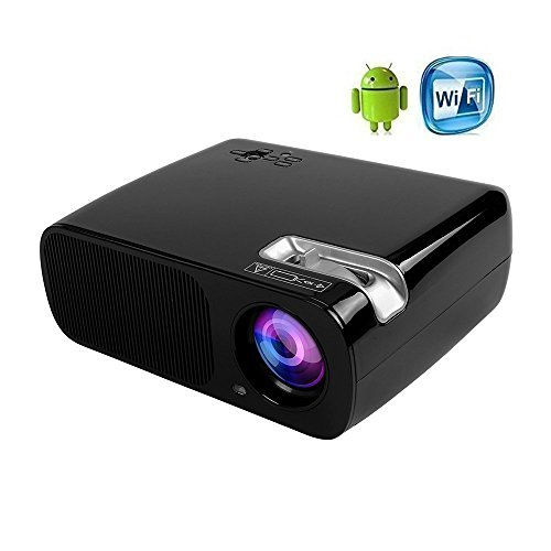 ICopter WIFI Android4.4 LED Projector 800x480 Home Theater 200'' Portable Multimedia Private Cinemasupport 1080P HDMI TV VGA AV USB YPBPR for Business Meeting Movie Video by ICopter
