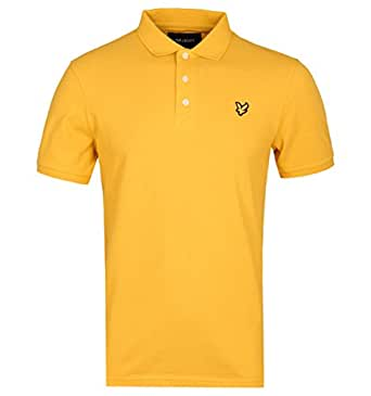 Lyle & Scott Pollen Yellow Pique Polo Shirt: Amazon.es: Ropa y ...
