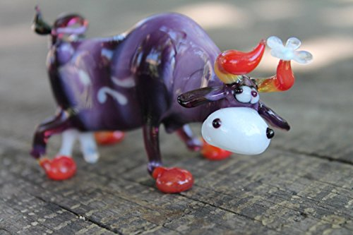Glass cow art glass home decor glass cow fused glass cow ornament art glass fused glass cow murano glass handmade