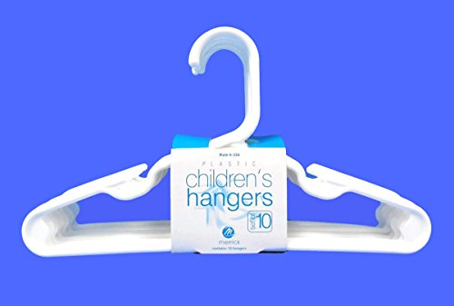 Set of 10 Children Plastic Hanger Red Tubular Kids Hangers 11.5