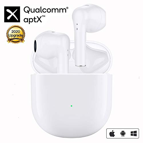 Wireless Earbuds Bluetooth 5.0 Headphones in-Ear Noise Cancelling Bluetooth Headphones IPX5 Waterproof HIFI 3D Stereo Headphones Built in Mic Headset with Charging Case for Sports