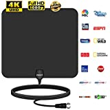 Veroyi HD TV Antenna, 80 Miles Upgraded Amplified Indoor Digital HDTV Antenna with Detachable Signal Booster, USB Power Adapter and 16.5ft Coaxial Cable