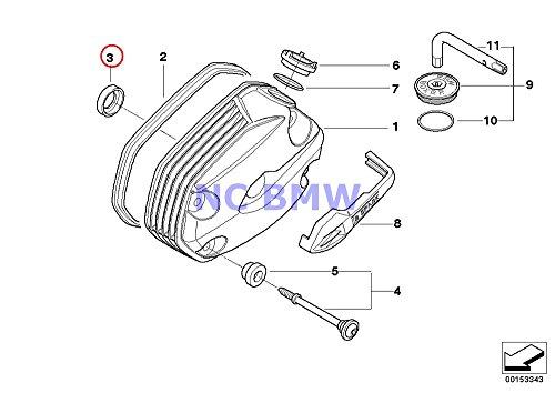 2 X BMW Genuine Motorcycle Cylinder Head Cover Interior Gasket R1200GS R1200GS Adventure HP2 Enduro HP2 Megamoto R1200RT R900RT R1200R R1200ST R1200S
