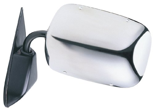 Fit System H3690 Chevrolet/GMC Driver/Passenger Side Replacement OE Style Manual Side Mirror (Stainless Steel Suburban Mirror)