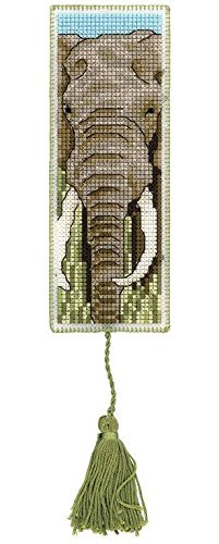 Royal Paris Elephant Bookmark Cross Stitch - Royal Paris Needlepoint