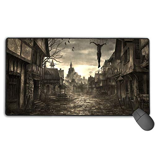 (GGlooking Mousemat City Mouse Pad Gaming Mat Computer Mousepad Large Non-Slip Keyboard Desk Accessories,Office & School Supplies)
