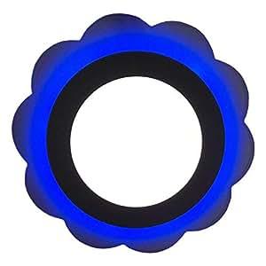 9W Flower Design Ceiling LED Panel Light - White & Blue