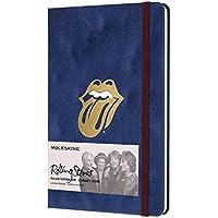 Caderno, Moleskine, Rolling Stones 8058341710906, Veludo Azul, Grande