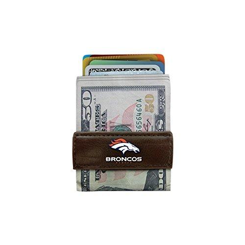 Denver Broncos Nfl Clip - NFL Denver Broncos Classic Football Money Clip Wallet, One Size, Brown