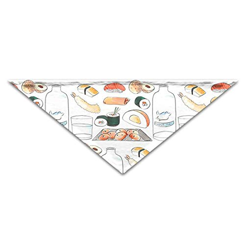 OLOSARO Dog Bandana Japanese Sushi Triangle Bibs Scarf Accessories for Dogs Cats Pets Animals ()