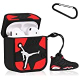 Mulafnxal Compatible with Airpods 1&2 Case,Cute 3D Luxury Funny Cartoon Character Silicone Airpod Cover,Fun Cool Design Skin,Fashion Chic Stylish Cases for Kids Teens Boys Men Air pods(Red Flying Man)
