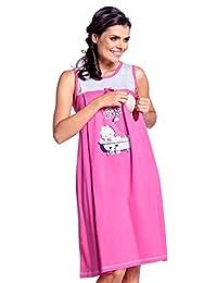 Zeta Ville - Maternity Womens Nursing Nightdress Robe Set Labour Hospital - 225c