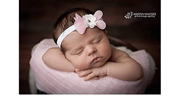 White Flower Baby Girls Headband Photography Props Hair Band Accessories