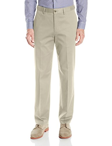 Savane Men's Big & Tall Flat-Front Stretch Ultimate Performance Chino (Big And Tall White Dress Pants)