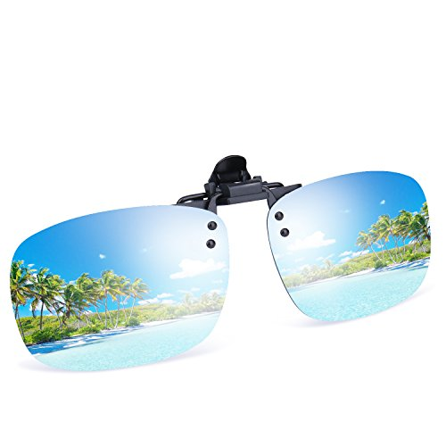 568251ceb47 Besgoods Cool Siver Mirror Polarized Clip-on Flip up Plastic Sunglasses  Lenses Glasses Outdoor Driving Fishing Sport - Buy Online in Oman.