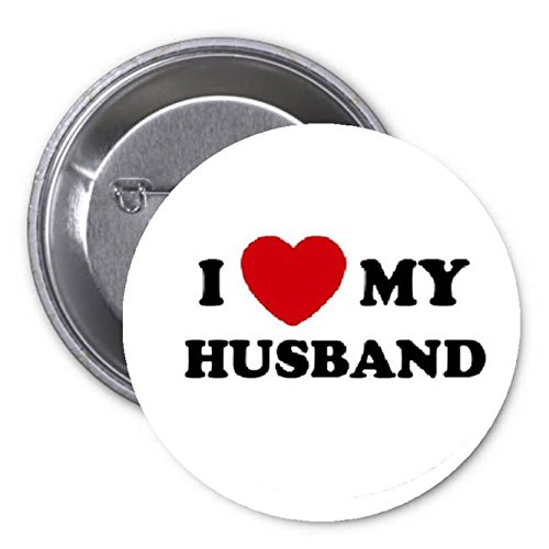 - I Love my Husband Pinback Button Pin - Love Valentine Relationship Wedding