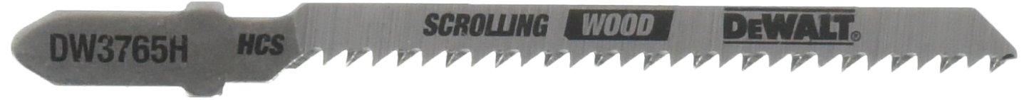 DEWALT DW3765H 3-Inch 12 TPI Trim/Coping HCS T-Shank Jig Saw Blade (5-Pack)