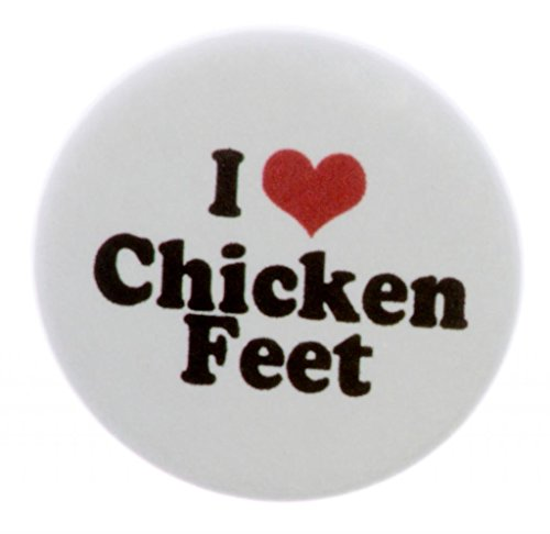 A&T Designs Unisex - I Love Chicken Feet 2.25