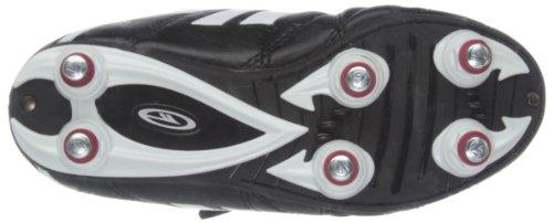 Hi-Tec League Pro Si EZ Jr - Zapatos de fútbol de material sintético infantil negro - Black/White/Red