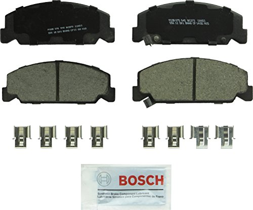 Bosch BC273 QuietCast Premium Ceramic Disc Brake Pad Set For Honda: 1984-1985 Accord, 1988-2000 Civic, 1993-1997 Civic del Sol, 1988-1989 CRX; Front