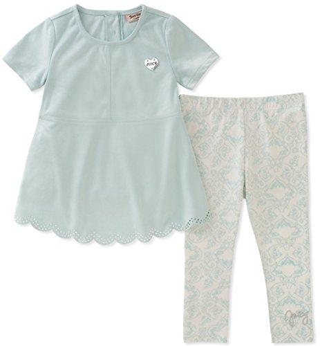 Juicy Couture Baby Girls 2 Pieces Tunic Set, Aqua, 24M (Designer Kids Clothing)