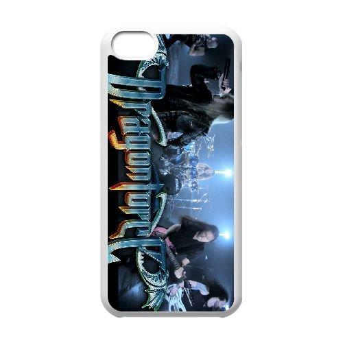 Dragonforce 006 coque iPhone 5C Housse Blanc téléphone portable couverture de cas coque EOKXLLNCD19155