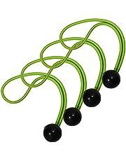 Master Lock Snelbinder met bal [20 cm snelbinders] [Set van 4 snelbinders] 3254EURDAT - om een Yogamat mee te vervoeren