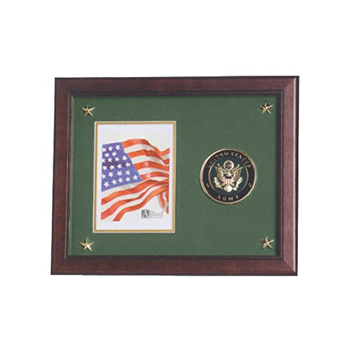 (Allied Frame US Army Medallion Portrait Picture Frame with Stars - 5 x 7 Inch)