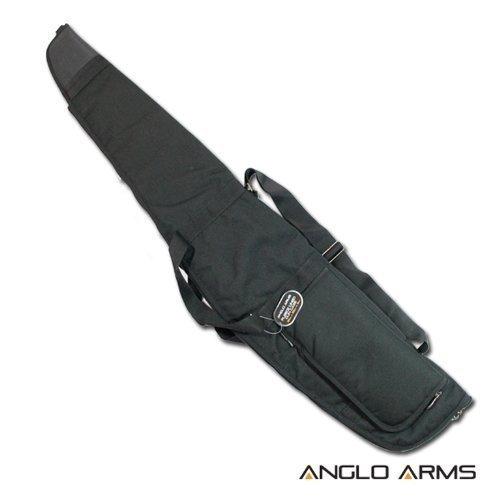 Deluxe Black Padded Rifle Shotgun Case Slip Longer For silencer
