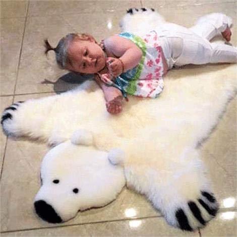 Genuine Irish Sheepskin Polar Bear Rug for ()