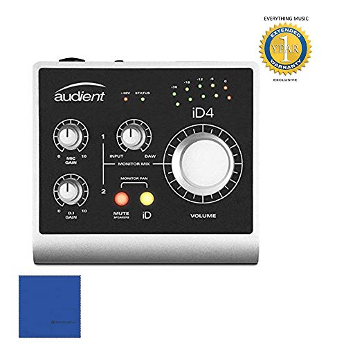 Audient iD4 Portable Bus-Powered Audio Interface with 1 Year Free Extended Warranty (Best Bus Powered Audio Interface)