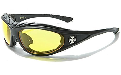 hommes Choppers moto conduite de nuit   conduite lunettes de sport jaune  nuit Vision mise en bdf23891adc0