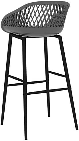 E E-NICES Chaises de Bar 2 pcs Gris