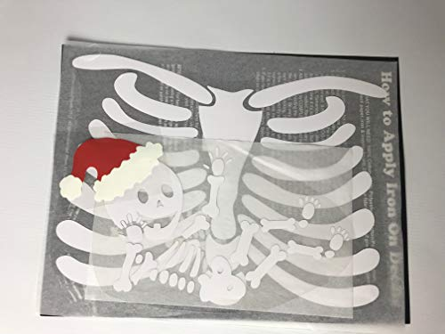 Santa Baby Pregnant Skeleton DIY Iron-on