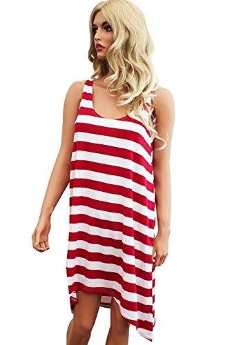 Tamari Strandkleid Kleid für Damen Einheitsgröße UK 8/10/12 Blau Rot ...