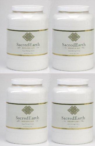 Sacred Earth Massage Cream Gallon-pack of 4