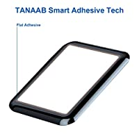 TANAAB - Apple Watch 42mm (Series 3/2/1 Compatible) Tempered Glass Screen Protector 3D Curved Edge 9H Hardness for Apple Watch 42mm - Black by TANAAB
