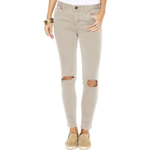 Free People Womens Destroyed Skinny Fit Jeans