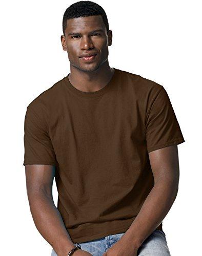 Hanes Mens Tagless 100% Cotton T-Shirt, 3XL, Dk Chocolate