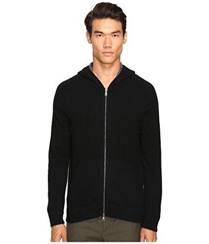 Vince Men's Cashmere Zip-Up Hoodie Black Sweater XL