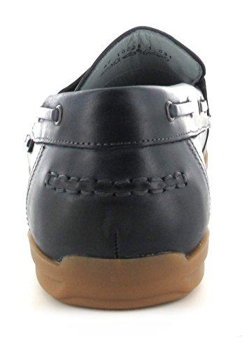 Sorrento-mEN-fRETZ, mocassins homme-bleu de matelas grande tailles de chaussures