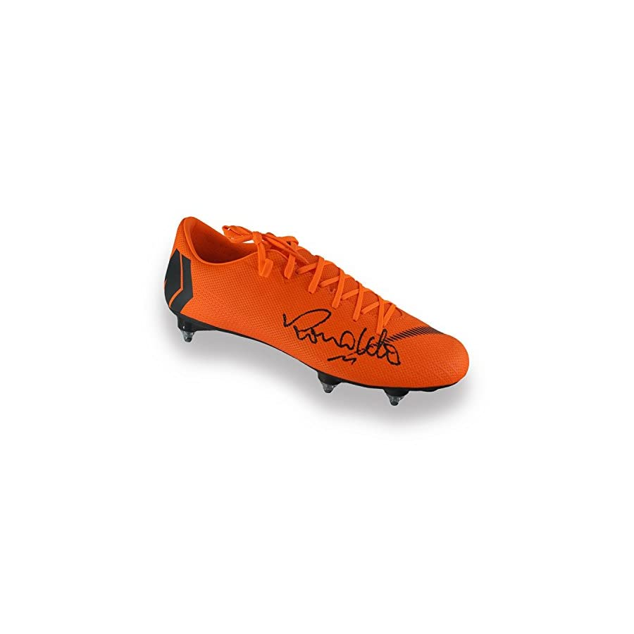 Ronaldo de Lima Signed Mercurial Soccer Shoe In Display Case | Autographed Memorabilia