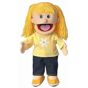 "14"" Katie, Peach Girl, Hand Puppet - 41RbXiBfnBL - 14″ Katie, Peach Girl, Hand Puppet"
