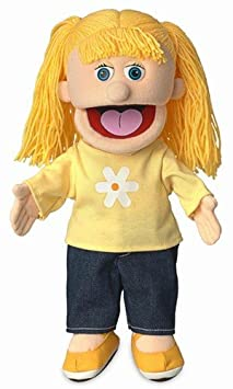 "14"" Katie  Peach Girl  Hand Puppet Silly Puppets NA"